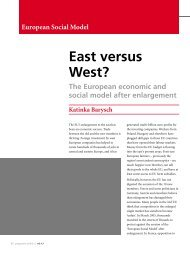 East versus West? The ESM after Enlargement - Policy Network