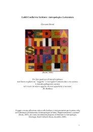 Labili Confini tra Scritture: Antropologia e Letteratura