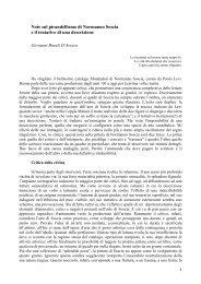 Note sul pirandellismo di Normanno Soscia e il tentativo di una ...