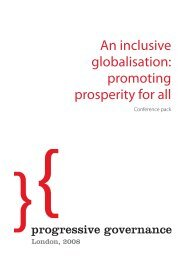 An inclusive globalisation: promoting prosperity for all - Policy Network