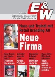 Haas und Traindl mit Retail Branding AG - E&W