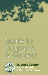 Guide to Programs & Services - St. Louis County