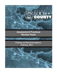 Assessment Practices Review Panel - St. Louis County
