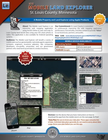 MOBILE LAND EXPLORER - St. Louis County