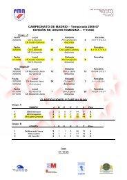 Temporada 2006-07 DIVISIÓN DE HONOR FEMENINA – 1ª FASE