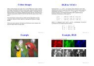 Colour images RGB to YCbCr Example Example, RGB