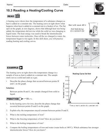 CHEMISTRY HEATING CURVE WORKSHEET - Comcast.net