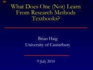 What do students (not) learn from research methods ... - icope 2010