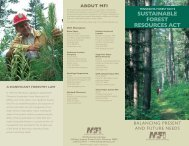 SuStainable ForeSt reSourceS act - Minnesota Forest Industries