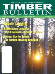 Timber Bulletin Mar/Apr - Minnesota Forest Industries