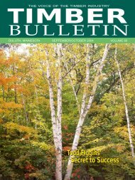Timber Bulletin Sep/Oct - Minnesota Forest Industries
