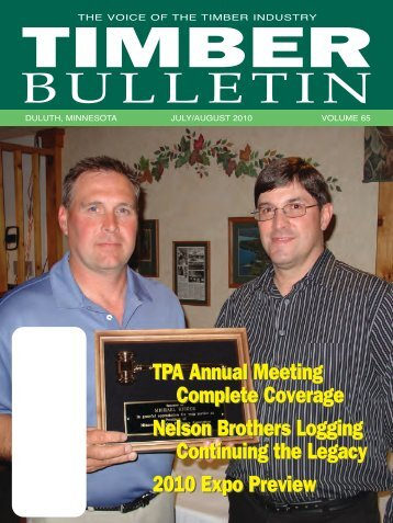 Timber Bulletin Jul/Aug - Minnesota Forest Industries