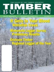 Timber Bulletin Nov/Dec - Minnesota Forest Industries