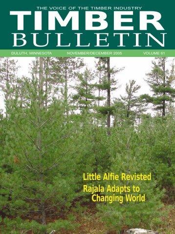 Timber Bulletin Nov/Dec - Minnesota Forest Industries