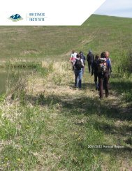 2011/2012 Annual Report - Miistakis Institute for the Rockies