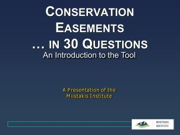 conservation easements - Miistakis Institute for the Rockies