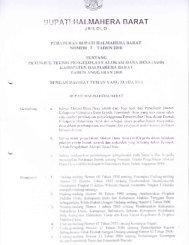 Peraturan Bupati Halbar No 3 tahun 2010 Tentang Petunjuk Teknis ...