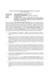CONTRATO DE PRESTACIÓN DE SERVICIOS DE APOYO A LA ...