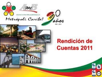 rutas eliminadas por empresa - Area Metropolitana de Barranquilla