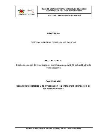 PROGRAMA GESTION INTEGRAL DE RESIDUOS SOLIDOS ...