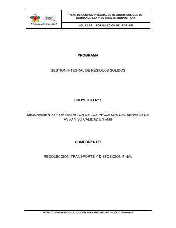 Diagnostico integral residuos solido liquidos cortolima - Gestion integral de proyectos ...