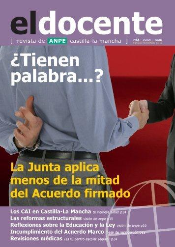 Acuerdo Marco - Anpe Albacete Sindicato Independiente
