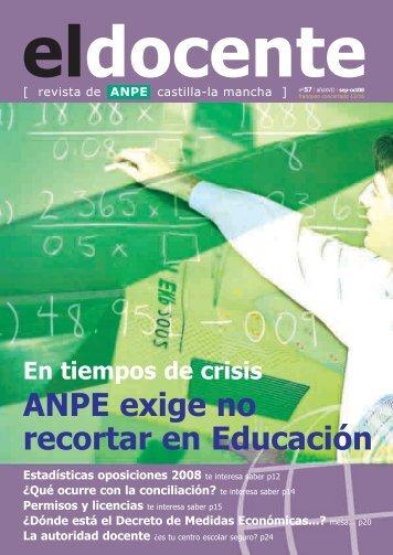 ANPE exige no recortar en Educación - Anpe Albacete Sindicato ...