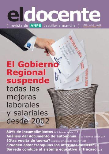 El Docente 82-4.qxd - Anpe Albacete Sindicato Independiente