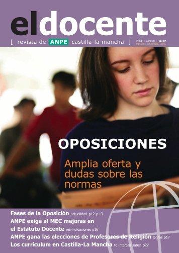 OPOSICIONES - Anpe Albacete Sindicato Independiente
