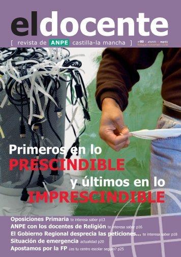 Oposiciones Primaria - Anpe Albacete Sindicato Independiente