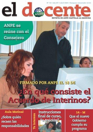 En qué consiste el Acuerdo de Interinos? - Anpe Albacete Sindicato ...