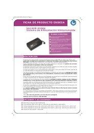 FICHA AI AVR X550U - Endesa