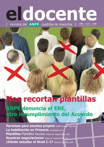 Nuestras negociaciones - Anpe Albacete Sindicato Independiente