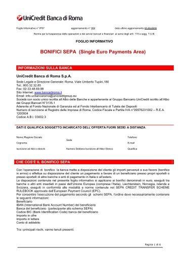 BONIFICI SEPA (Single Euro Payments Area)