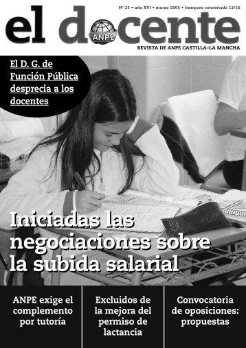 NÚMERO 25 (Pags. de 1 a 10).qxd - Anpe Albacete Sindicato ...