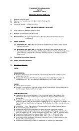 TOWNSHIP OF MANALAPAN Agenda October 12, 2011 Workshop ...