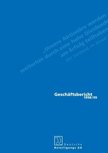 Der Vorstand, im Januar 2 - Deutsche Beteiligungs AG