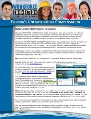 florida's unemployment compensation - Workforce Connection