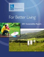 ACI Sustainability Report - The American Cleaning Institute