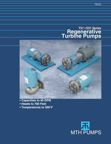 E51 • T51 Product Bulletin - MTH Pumps