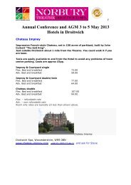 Annual Conference and AGM 3 to 5 May 2013 ... - Norbury Theatre