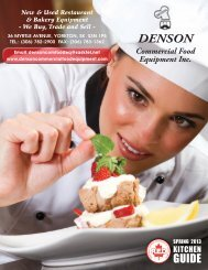 New & Used Restaurant & Bakery Equipment - Denson Commercial ...