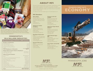 Economy of the Forests - Minnesota Forest Industries