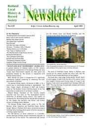 April 2013 - Rutland Local History and Record Society