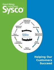 What is a Customer Visit - Sysco of Northern New England