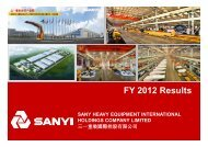 FY 2012 Results - Sany