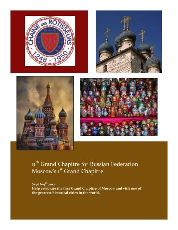 11 Grand Chapitre for Russian Federation Moscow's 1 Grand Chapitre