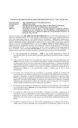 CONTRATO DE PRESTACIÓN DE SERVICIOS PROFESIONALES ...