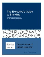 The Executive's Guide to Branding - Emory Marketing Institute