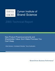 New Product Preannouncements and Shareholder Value - Emory ...